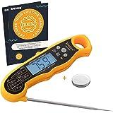 Deiss PRO Thermomètre Cuisine Digital - Sonde de Temperature Pliable - Avec Écran LED RétroÉclairage - Thermomètre Cuisson po