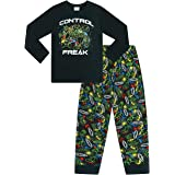 The Pyjama Factory Control Freak Gaming Pijama largo de algodón negro