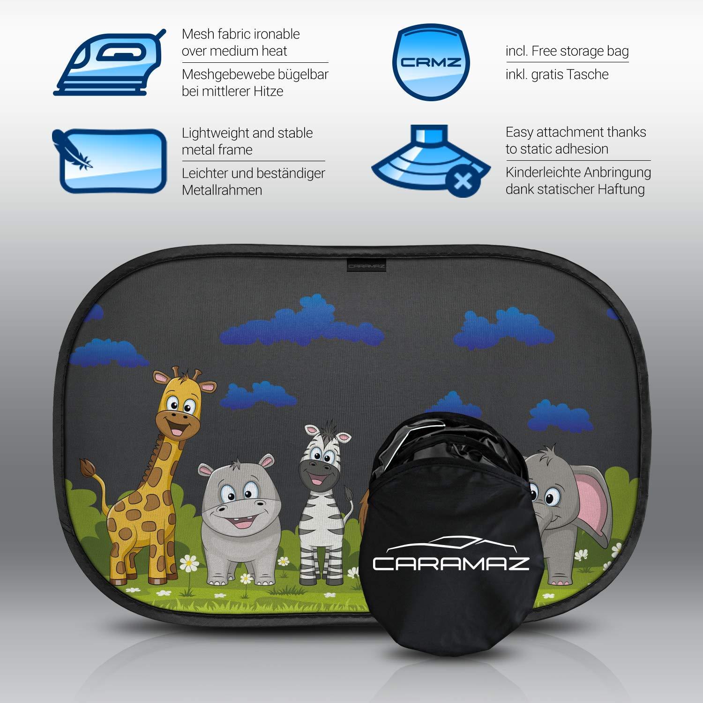 tende da sole per esterno Parasole bambini accessori auto,2 pezzi 51x31cm Tendine parasole auto bambini nere animali protezione solare raggi UV
