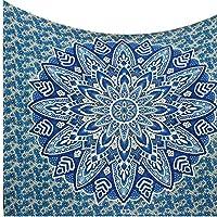 Kesrie. arazzo indiano Mandala in cotone stampato da appendere alla parete