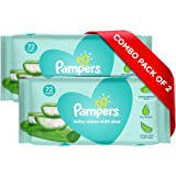Pampers Baby Gentle Wet Wipes with Aloe Vera, 144 Wipes