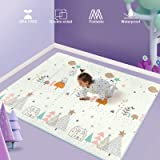Uanlauo Tappeti Gioco Bambini Circa 200 * 180 * 1 cm,Tappeto per Bambini Pieghevole Tappetino Schiuma XPE Pavimento Antiscivo