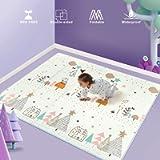 Uanlauo Tappeti Gioco Bambini Circa 200 * 180 * 1 cm,Tappeto per Bambini Pieghevole Tappetino Schiuma XPE Pavimento…
