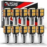 W5W T10 LED Canbus Bombilla, OUSHI 194 168 2825 12V 3000K Ámbar Amarillo Reemplazo Para El Interior Del Automóvil Cúpula Late
