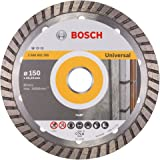 Bosch 2608602395 Disque à tronçonner diamanté standard for universal turbo 150 x 22,23 x 2,5 x 10 mm