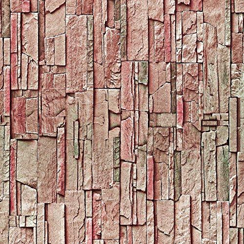 murando - Vlies Tapete - Deko Panel Fototapete - Wandtapete - Wand Deko - 10 m Tapetenrolle - Mustertapete - Wandtapete - modern design - Dekoration - Steine Steinwand Steinoptik Felsen Felsenblock f-A-0093-j-d