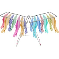 VEEN LIFETIME Stainless Steel Foldable Cloth Stand for Drying Clothes   Cloth Drying Stand for Bedroom   Fold-able Space…