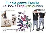 Family Olga Wicky Ivan Jersey-Pumphosen. 3 eBooks mit Nähanleitung und 3 Schnittmustern. [Download]