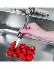 SHOPPOWORLD Stainless-Steel Universal Faucet Adapter 360 Degree Rotate Flexible 2 Spray Setting Water Extender Faucet Sprayer for Easy Clean Sink, Bathroom, Rinsing Fruits, Etc