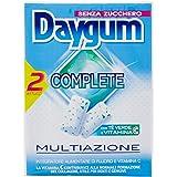 Daygum Complete Gomme da Masticare Senza Zucchero, Chewing Gum Gusto Menta con Vitamina C e Tè Verde, Confezione da 2 Astucci
