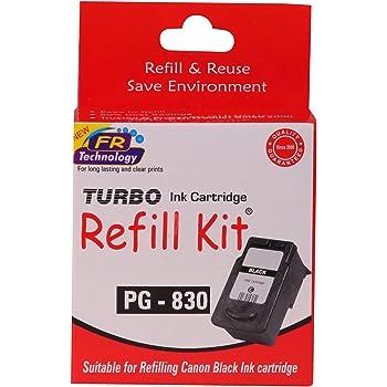 Turbo Refill Kit for canon pg 830 black ink cartridge