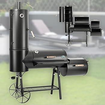 DRULINE 130kg Profi Smoker BBQ Grill Grillwagen Holzkohle 3,5mm Stahl Massiv Vertikal