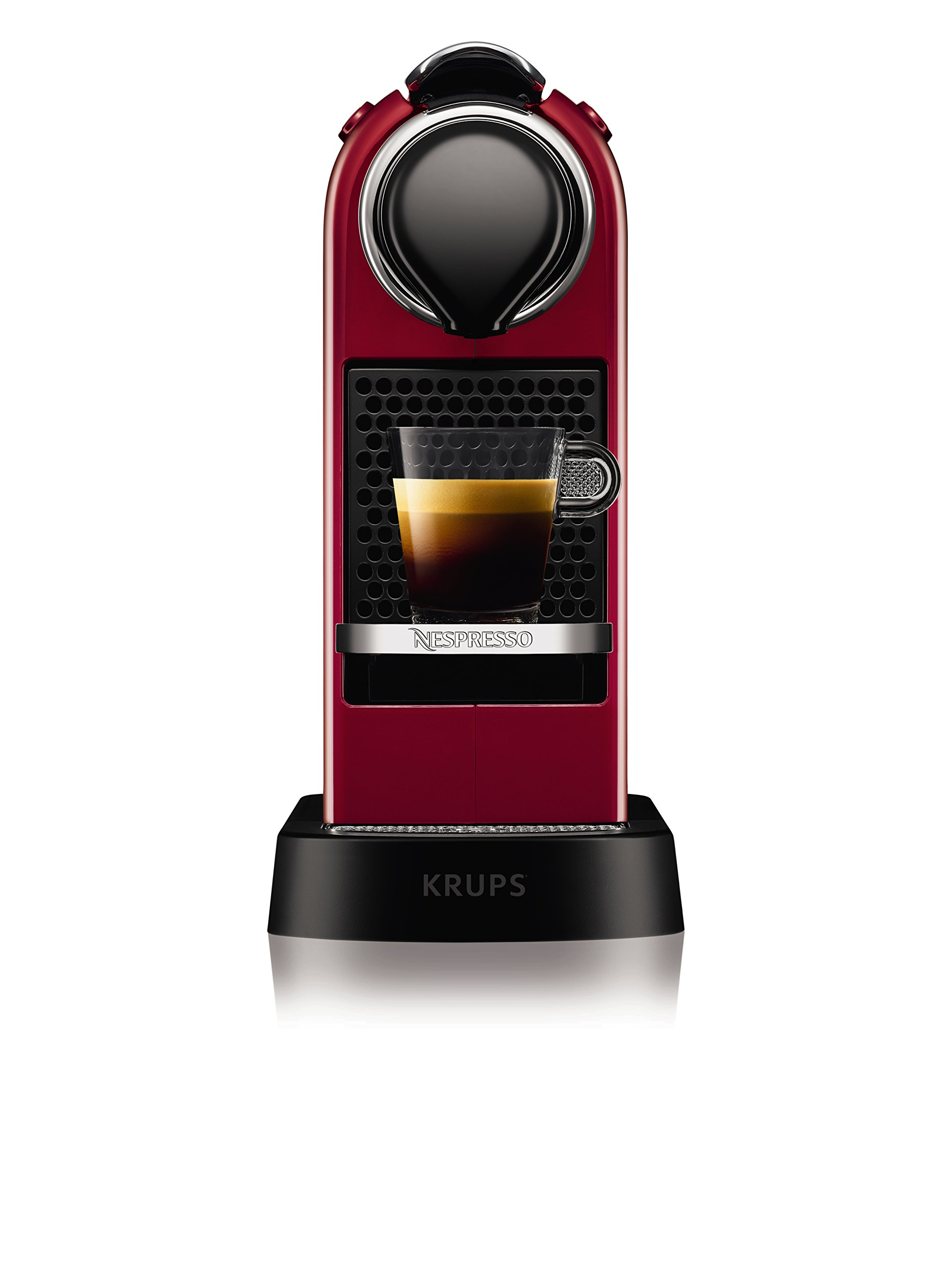 71sTJYYytvL - NESPRESSO KRUPS Citiz XN741540 Pod Coffee Machine-Red