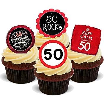 Essbare Cupcake Deko Zum 50 Geburtstag Fur Frauen Stehende