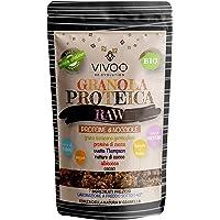 VIVOO RE-EVOLUTION | GRANOLA PROTEICA RAW - PROTEINE DI NOCCIOLE - gusto NOCCIOLA E CACAO| Biologico, Raw | Senza Zuccheri aggiunti | No: glutine, Latticini, Soia, OGM Confezione 150 g cad.