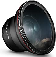 58MM 0.43x Altura Photo Professional HD Wide Angle Lens (w/Macro Portion) for Canon EOS Rebel 77D T7i T6s T6i T6 T5i T5 T4i T
