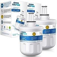 2× Remplacement du filtre à eau du réfrigérateur pour Samsung DA29-00003G,DA29-00003F, HAFIN1, HAFIN1/EXP,DA29-00003B, DA29-00003A, DA97-06317A, RFC1100A paquet de GOLDEN ICEPURE (facture disponible)