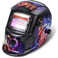 Masque de Soudure NASUM Masque de Soudage/Welding Masque DIN9-13, Énergie Solaire Automatique, Protection de Crâne pour le Soudage/TIG/MIG/MMA, Shield CE/RoHS Certifié (Noir)