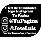 Pegatina Vinilo Personalizado con Perfil Pagina de Instagram - Casco, Pared, Cristal, Puerta, Botella, Libro, Correos, Bici,