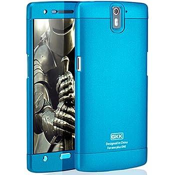 Heartly GKK Double Dip Hard Shell Premium Back Case Cover For OnePlus One 4G - Blue Blue Blue