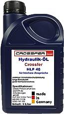 CROSSFER 1 Liter Kanister HLP46 Hydrauliköl für Hydraulikpressen, Holzspalter, Wagenheber, Hydraulikflüssigkeit mit 46er Viskosität