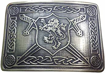 TC Saltire Lion Rampant Kilt Belt Buckle Antique Finish/Highland Kilt Belt Buckles