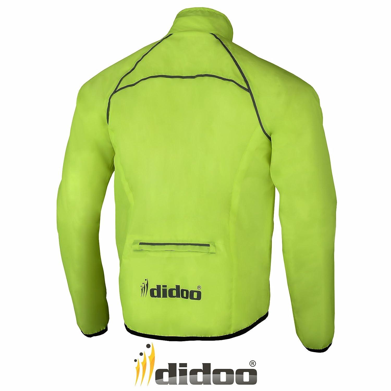 Mens Cycling Jacket High Visibility Waterproof Running Top Rain ...