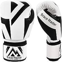 Brace Master Gants MMA Gants UFC Cuir Plus de Rembourrage pour Hommes Femmes Protection du Poignet, Gants d'entraînement…
