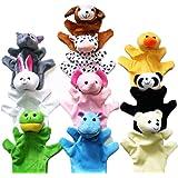HEALLILY 8Pcs Kit de Fabricaci/ón de Marionetas de Mano Set de Fabricaci/ón de Marionetas de Calcet/ín de Animales Marionetas de Mano Artesanales Creativas Marionetas de Bricolaje Mu/ñecas
