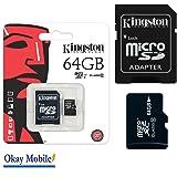 Original Kingston MicroSD 64 gb Speicherkarte Für Samsung Galaxy J5 Duos - 64GB