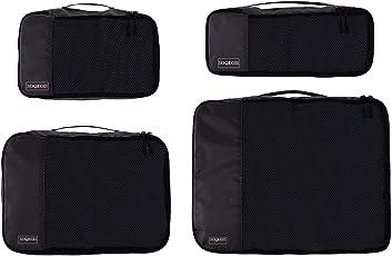 Egab Travel Luggage Organizer Packing Cubes (4-Piece Set), Black