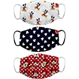 Bon Organik Mickey & Friends (OFFICIAL MERCHANDISE) 2 Ply Printed Cotton Cloth Face Mask Bundle For Kids (Set Of 3)