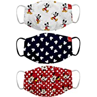 Bon Organik Mickey & Friends (OFFICIAL MERCHANDISE) 2 Ply Printed Cotton Cloth Face Mask Bundle For Kids (Set Of 3) (4…