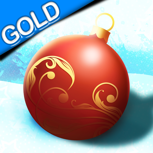 Rolling Christmas Ball : The Tree ornament gift incredible race -Gold Edition