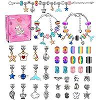 BYTOKI Bijoux de Bracelets à Breloques Kit, Kit de Fabrication de Bracelet Cadeau Fille - Meilleur Cadeau