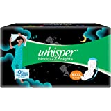 Whisper Bindazzz Night Sanitary Pads For Women, XXX-Large Pack of 10 Napkins