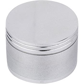 Metier 50mm Metal Herb Crusher with Honey Dust Filter (50mm, 4 Part), Silver