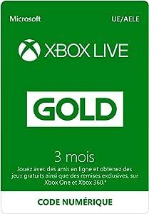Abonnement Xbox Live Gold 3 mois   Xbox Live - Code jeu à télécharger