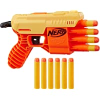Nerf Plastic Alpha Strike Fang Qs-4 Blaster, 4-Dart Blasting, Fire 4 Darts in A Row, 10 Darts, Multicolour
