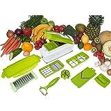 Vegetable Fruit Peeler Dicer Cutter Chopper, Green, W 30.6 x H 14.2 x D 12.2 cm