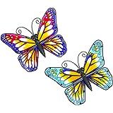 HONGLAND Mur papillon Art décoration maison jardin métal sculpture murale décoration pendaison