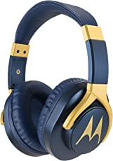 Motorola Pulse 3 Max Wired Headphones with One Touch Amazon Alexa (Blue)