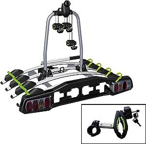 Vdp Heckträger Tba4 Fahrradträger Abschließbar Für 4 Räder Klappbar Für Anhängerkupplung Mit Quick Lock Auto