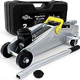 Deuba® Hydraulischer Wagenheber | 2 Tonnen | inkl. Koffer | Roll- und Lenkbar | inkl. Gummiauflage | Rangierwagenheber
