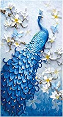 Frameless 5D Diamond Embroidery Painting Handmade Peacock Wall Decoration Cross Stitch Printing Craft Kits