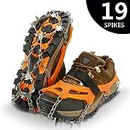 IPSXP Ice Tacchetti, 19 Dente Antiscivolo Tacchetti Ramponi Neve Ghiaccio Traction per Scarpe Stivali, Usato per Trekking, Ca
