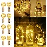 LE Bottle Lights with Cork, 2M 20 LED Cork Lights for Bottles, Warm White Fairy Lights Battery Operated, 8 Pack LED…