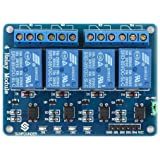 Robocraze 4-Channel Relay Module Board | 5V Relay Module with Optocoupler for boards compatible with Arduino