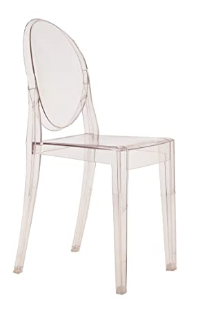 Kartell Victoria Ghost Stool designed by Philippe Starck, Crystal ...