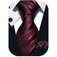 Barry.Wang Designer Mens Ties and Pocket Square Cufflinks Silk Necktie Set Paisley